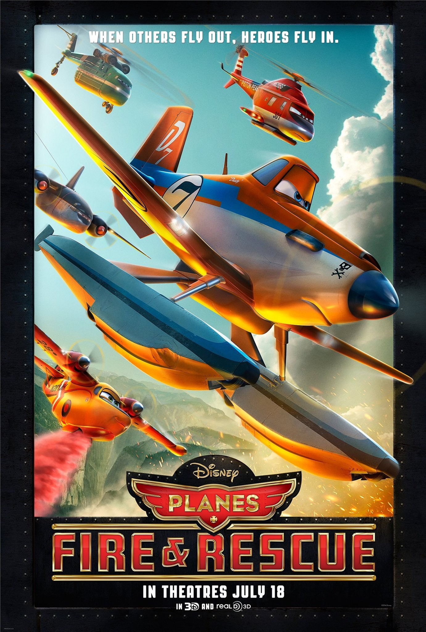 Poster for Planes: Fire And Rescue